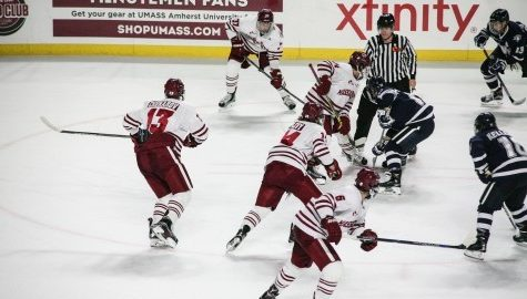 UMass hockey earns stunning 6-6 tie against UNH