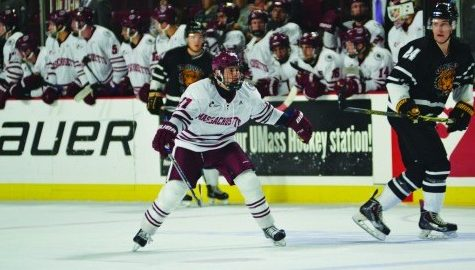 Freshman Ryan Badger brings 'max effort' to UMass hockey