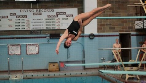 UMass diving tested in exhibition against UConn