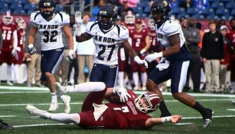UMass football beat in 'one-on-one' situations in low-scoring loss to Akron