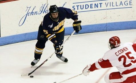 Hockey East roundup: Merrimack edges BU, Notre Dame tops UConn.