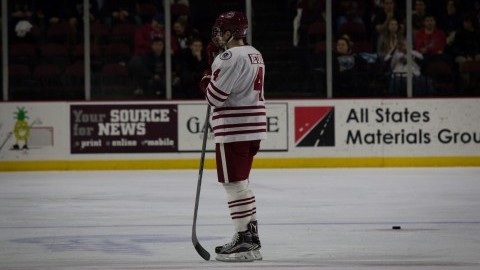 UMass hockey blows third period lead against Vermont for sixth straight loss