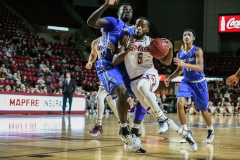 (Jabarie Hinds attempts to make a lay-up during Saturdays game against St. Louis. Shannon Broderick/ Daily Collegian)