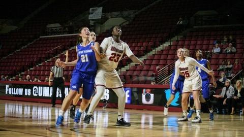 Rashida Timbilla plays final game of career at Mullins Center