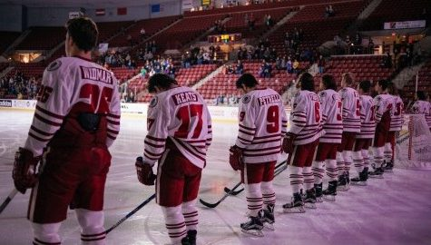Just another night at the Mullins Center for UMass hockey