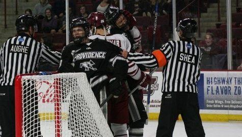 UMass hockey falls to No. 5 Providence 4-1 on Senior Night