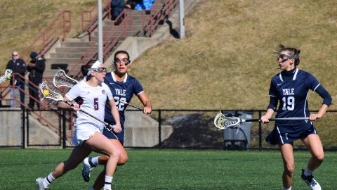 Offensive outbreak puts UMass womens lacrosse past Yale
