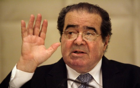 (Supreme Court Justice Antonin Scalia speaks to the State Bar of Texas at its annual meeting in Dallas in a June 2009 file image. Scalia died on Saturday, Feb. 13, 2016. Mona Reeder/Dallas Morning News/TNS)