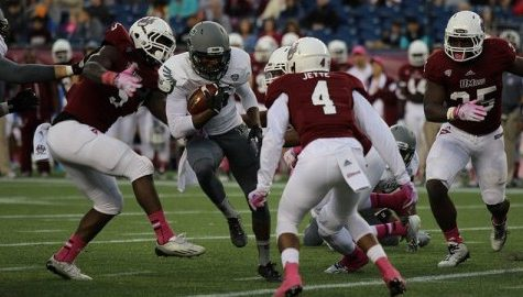 Peter Angeh ready to take step forward on UMass football's defensive line