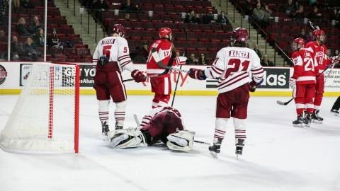 UMass hockey falls to No. 9 Boston University 2-1 in OT in Hockey East playoffs