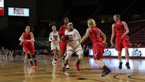 UMass women's basketball opens Atlantic 10 tournament with win over La Salle