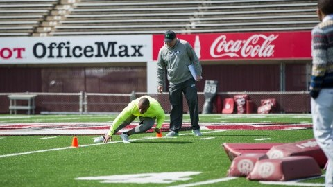 Former UMass football players reflect on finances during Pro Day Thursday