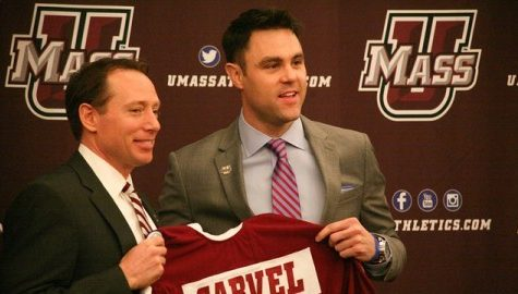 Greg Carvel introduced as next UMass hockey coach