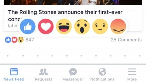 Facebook's new reaction buttons may push your buttons