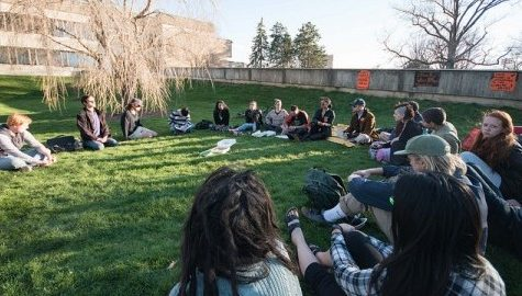 UMass Divest hosts 'sit-outs' outside Whitmore Administration Building