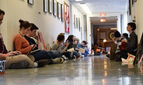 Students hold sit-in to protest UMass investment in fossil fuel companies