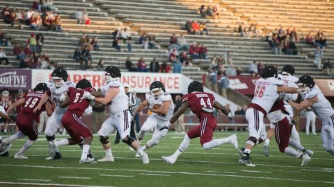 John Robinson-Woodgett leads UMass football's rushing attack in annual spring game