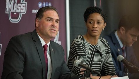 UMass women's basketball welcomes new coach Tory Verdi during press conference Wednesday morning
