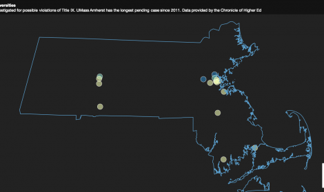 VISUALIZATION: Title IX investigations at MA colleges and universities