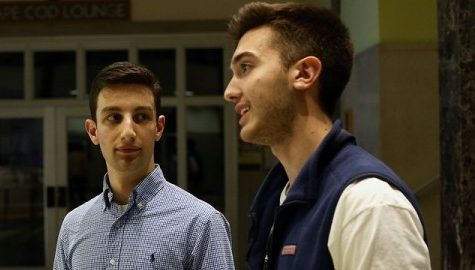 President Anthony Vitale and Vice President Nick Rampone anticipate productive year at SGA