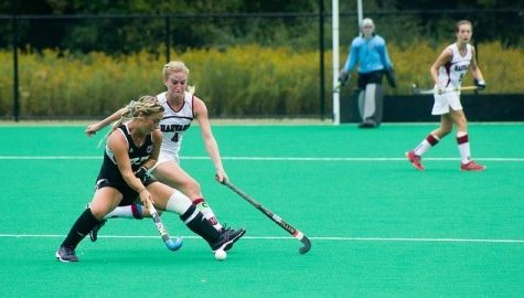 UMass field hockey narrowly defeats Harvard 3-1
