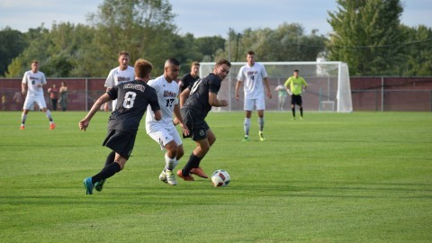 Men's soccer earns first win of the season over Brown 2-0