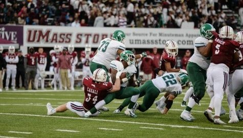 UMass football drops to 1-4, losing close game to Tulane Saturday at McGuirk Stadium