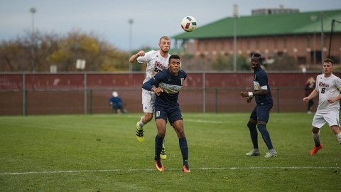 Men's soccer defeated George Washington 1-0 off a goal by Connor O'Dwyer in the first half at Rudd field on Saturday afternoon.  Judith Gibson-Okunieff/Daily Collegian)