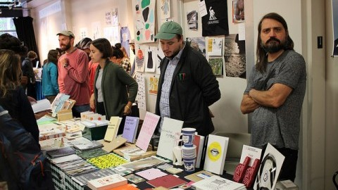 Local artists and writers gathered on Sunday October 2, 2016 in Northampton for the Print and Book Fair. Erica Lowenkron/Daily Collegian)