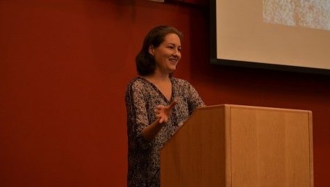 "Pamela Olson gives talk on ""Fast Times in Palestine"""