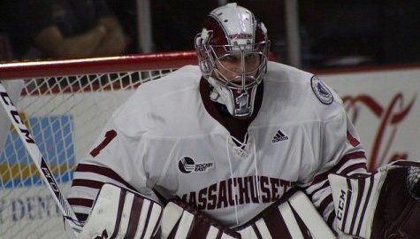 UMass hockey's goalie threesome continues to battle for starting duties