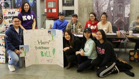UMass Kappa Phi Lambda request the donation for Bill Chu at UMass Campus Center on Thursday. Jong Man Kim/Daily Collegian)