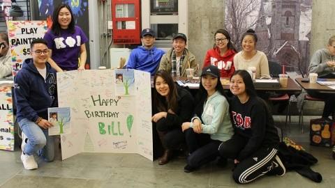 UMass Kappa Phi Lambda request the donation for Bill Chu at UMass Campus Center on Thursday. Jong Man Kim/Daily Collegian)