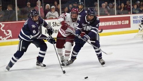 Opportunistic goals and sturdy net play propel New Hampshire to victory over UMass hockey