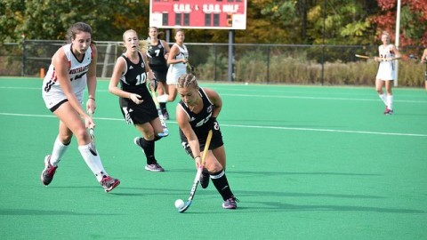 Nicole Miller runs down the field during Sunday's game against Northeastern on October 16th. Katherine Mayo/Daily Collegian)