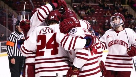 UMass hockey gets chance to bond during trip to Belfast