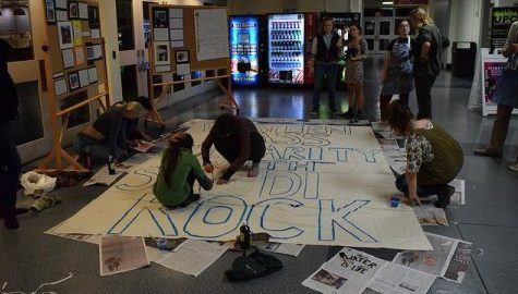 Students craft to show support for protests against DAPL