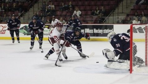 UMass hockey shows improvement in 2-2 tie against UConn
