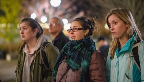 Community gathers in solidarity following election results