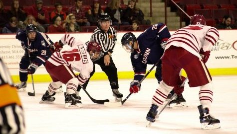 UMass hockey looks to continue recent improvements against Connecticut
