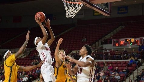 UMass men's basketball tops Kennesaw State with balanced offensive performance.