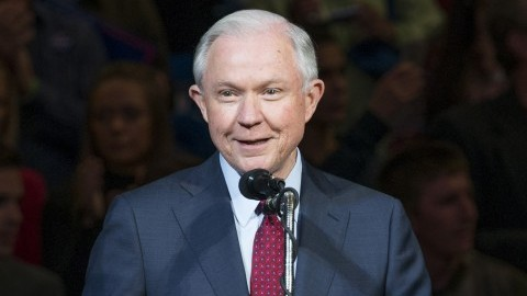 Protest held in Amherst against forced resignation of Attorney General Jeff Sessions