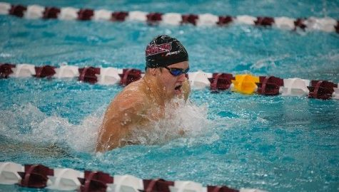 UMass swimming and diving drop final dual meet of season at Fordham, look ahead to A-10 Championships
