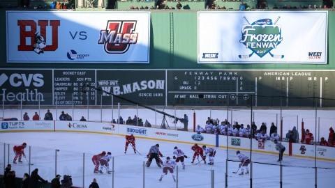 UMass hockey falls to No. 5 Boston University at Frozen Fenway