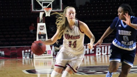 Hailey Leidel hits second buzzer beater of the season to give UMass women's basketball win over Davidson