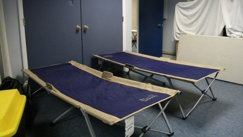 Two beds in the women's room at Craig's Place. (Daily Collegian File Photo)