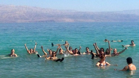 Participants on a Taglit Birthright trip earlier this year. The program, which organizes free trips to Israel for young Jewish adults, is growing. (Kate Linthicum/Los Angeles Times/MCT)