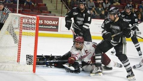 UMass hockey falls to No. 10 Providence on Senior Night at the Mullins center