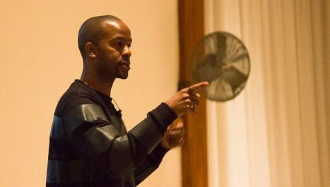 Former NFL Football Player Wade Davis Speaks at UMass