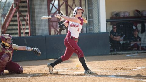UMass softball sweeps BU doubleheader